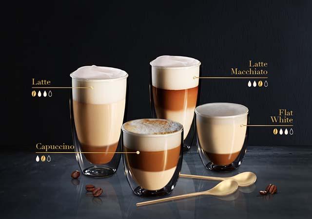 Quelle est la différence entre  le Café, L'Espresso, le Cappuccino et le Latte ?